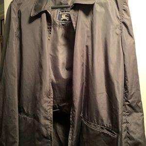 Men's vintage Burberry rain coat travel bag